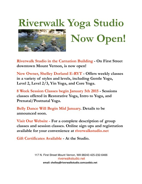 Riverwalk now open flyer