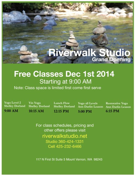 Riverwalk Yoga Free Class Event